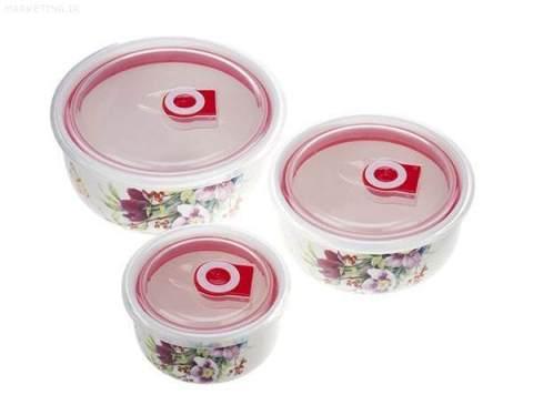 ظروف سرامیکی 3 تایی سوپاپ دار