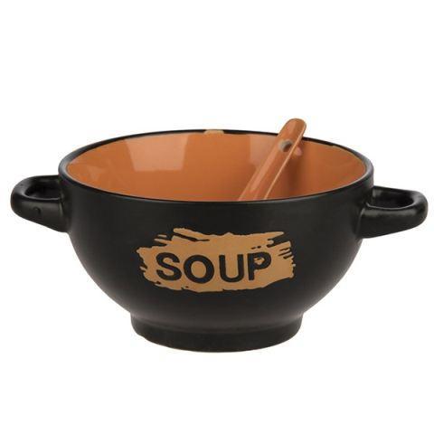 کاسه سوپ خوری سرامیکی قاشق دار soupe | هایپرشاین