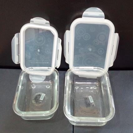 ظروف شیشه ای جفتی ماکروفری و فریزر درب دار در هایپرشاین