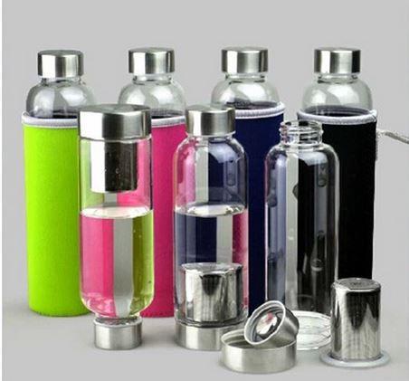 فلاسک (بطری) شیشه ای دمنوش ساز صافی دار کاوردار در هایپرشاین hypershine