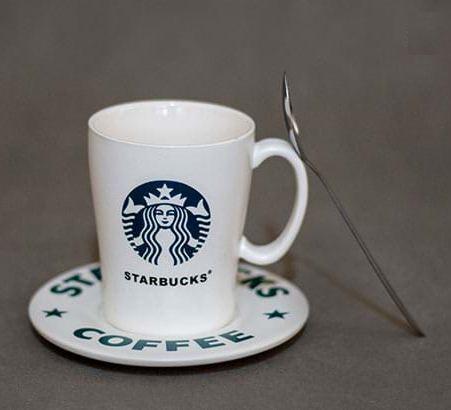 ست فنجان، نعلبکی و قاشق 3 پارچه استارباکس